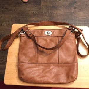 Fossil leather hobo.